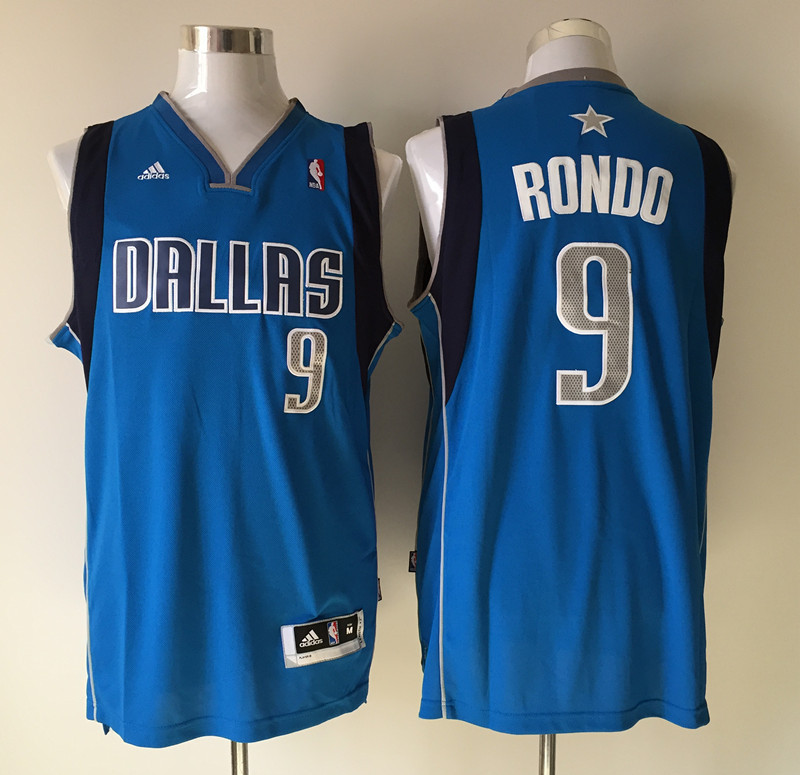 NBA Dallas Mavericks 9 Rajon Rondo blue 2015 Jerseys