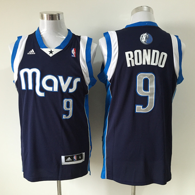 NBA Dallas Mavericks 9 Rajon Rondo dark blue 2015 Jerseys