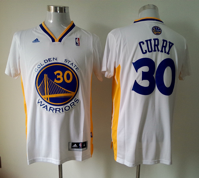 NBA Golden State Warriors 30 Stephen Curry white Fashion Swingman 2015 Jerseys
