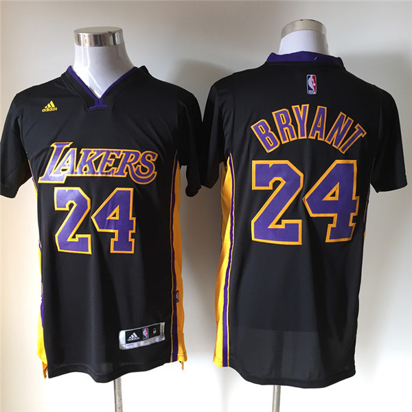 NBA Los Angeles Lakers 24 Kobe Bryant Black Purple Fashion Swingman 2015 Jerseys