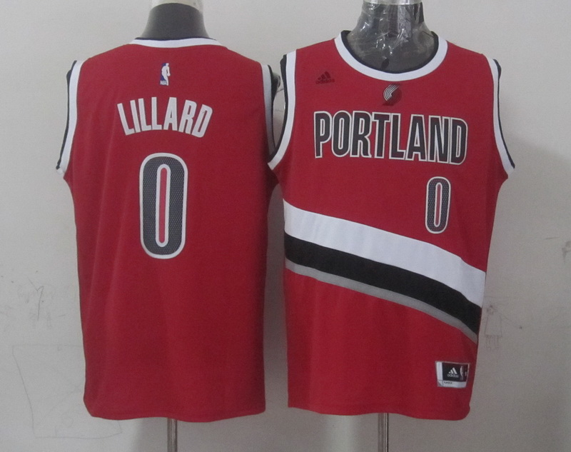 NBA Portland Trail Blazers 0 lillard red 2015 Jerseys