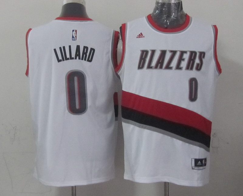 NBA Portland Trail Blazers 0 lillard white 2015 Jerseys