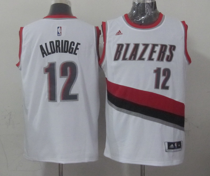 NBA Portland Trail Blazers 12 aldridge white 2015 Jerseys