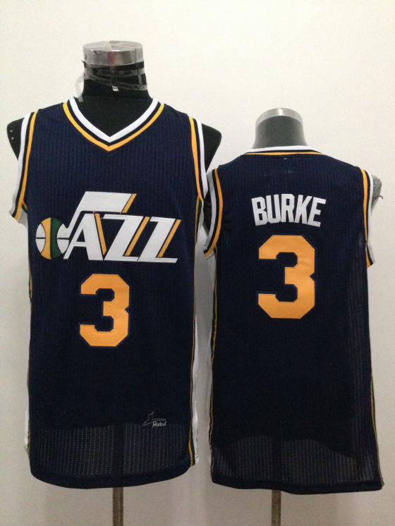NBA Utah Jazz 3 Trey Burke Blue 2015 Jerseys