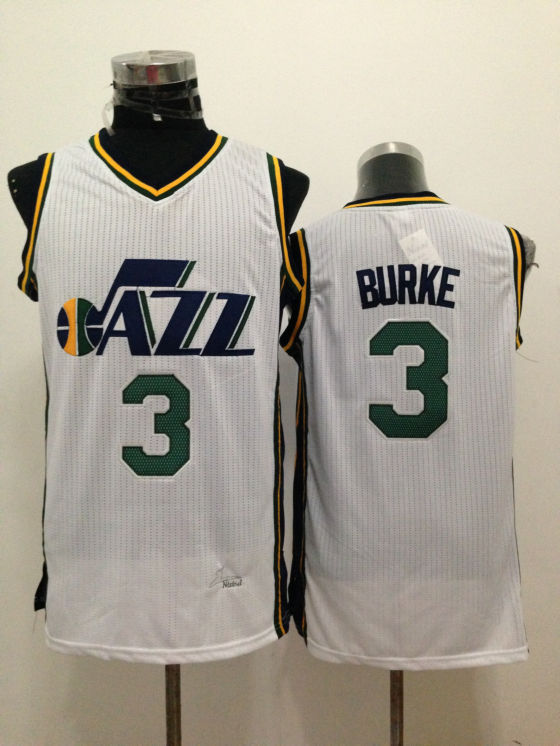 NBA Utah Jazz 3 Trey Burke White 2015 Jerseys