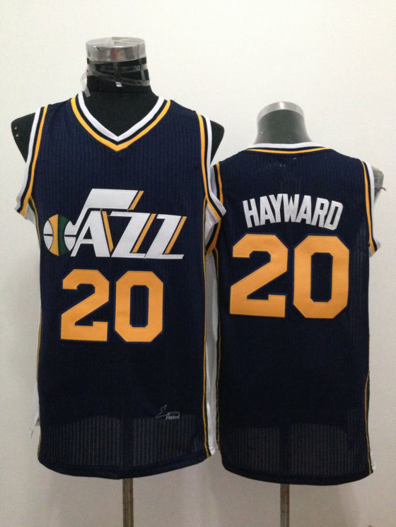 NBA Utah Jazz 20 Gordon Hayward Blue 2015 Jerseys