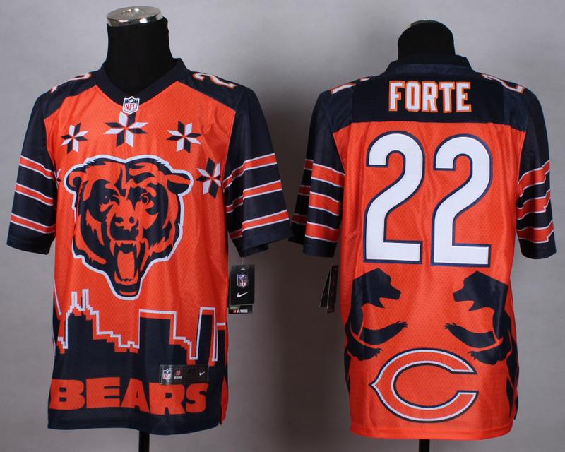 Chicago Bears 22 forte orange 2015 New Style Noble Fashion Elite Jerseys