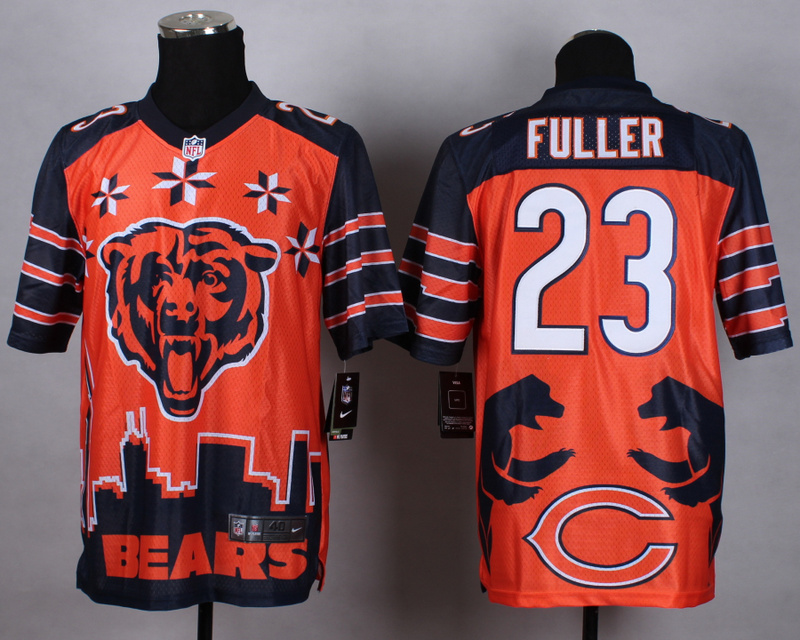 Chicago Bears 23 Fuller orange 2015 New Style Noble Fashion Elite Jerseys