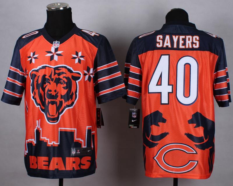 Chicago Bears 40 sayers orange 2015 New Style Noble Fashion Elite Jerseys