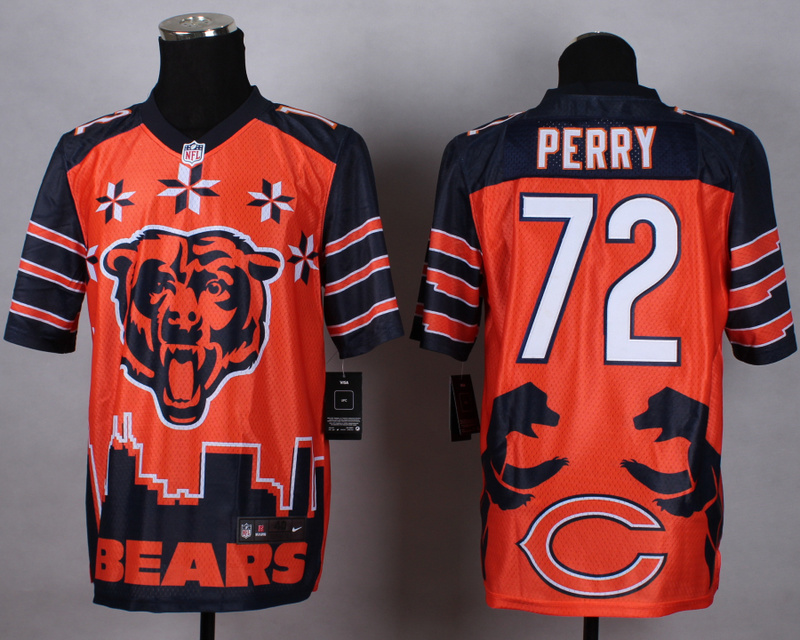 Chicago Bears 72 Perry orange 2015 New Style Noble Fashion Elite Jerseys
