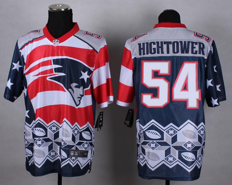 New England Patriots 54 hightower blue 2015 New Style Noble Fashion Elite Jerseys