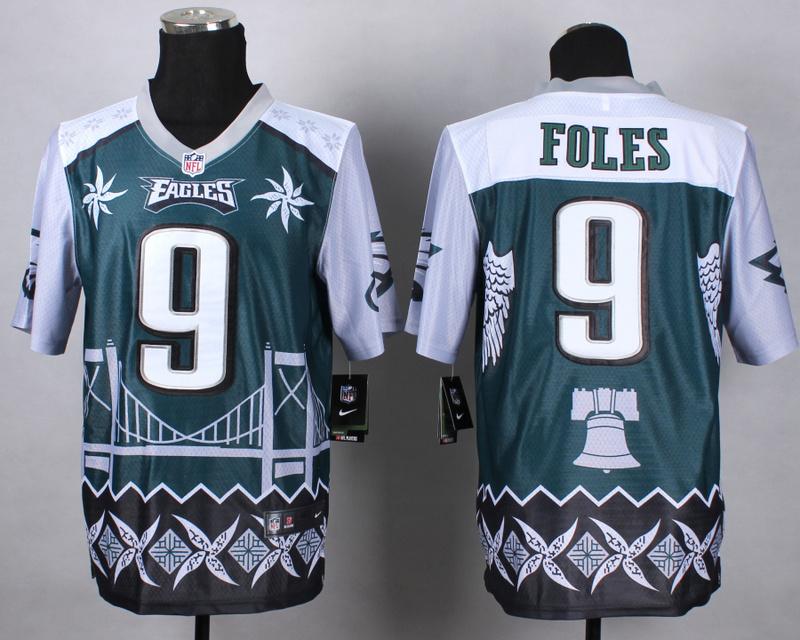 Philadelphia Eagles 9 foles green 2015 New Style Noble Fashion Elite Jerseys