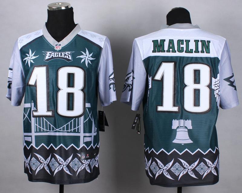 Philadelphia Eagles 18 maclin green 2015 New Style Noble Fashion Elite Jerseys