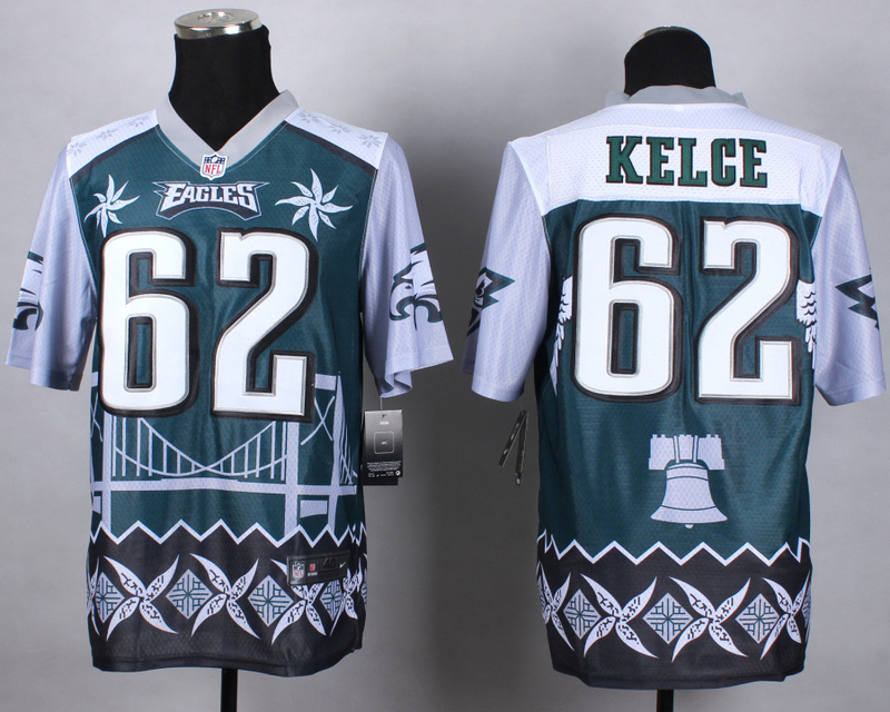 Philadelphia Eagles 62 kelce green 2015 New Style Noble Fashion Elite Jerseys