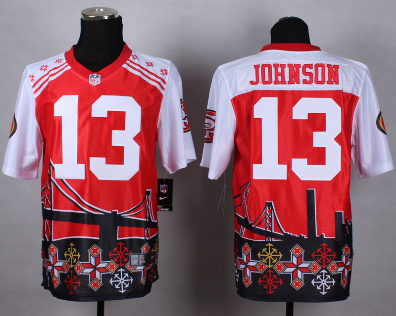 San Francisco 49ers 13 Johnson red 2015 New Style Noble Fashion Elite Jerseys