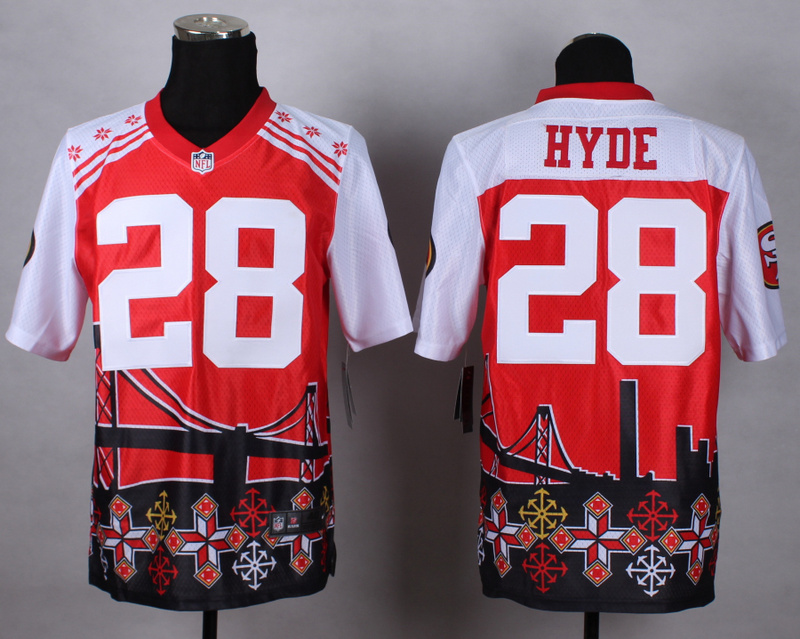 San Francisco 49ers 28 hyde red 2015 New Style Noble Fashion Elite Jerseys
