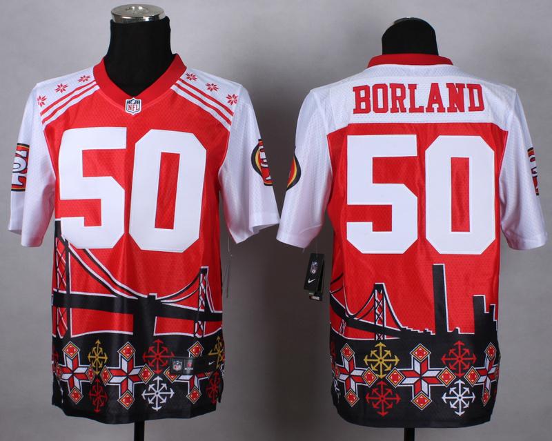 San Francisco 49ers 50 borland red 2015 New Style Noble Fashion Elite Jerseys