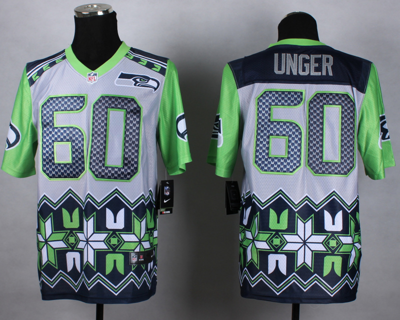 Seattle Seahawks 60 unger grey 2015 New Style Noble Fashion Elite Jerseys