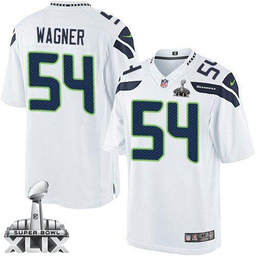 Nike Seahawks #54 Bobby Wagner White Super Bowl XLIX Men's Stitched NFL Limited Jersey