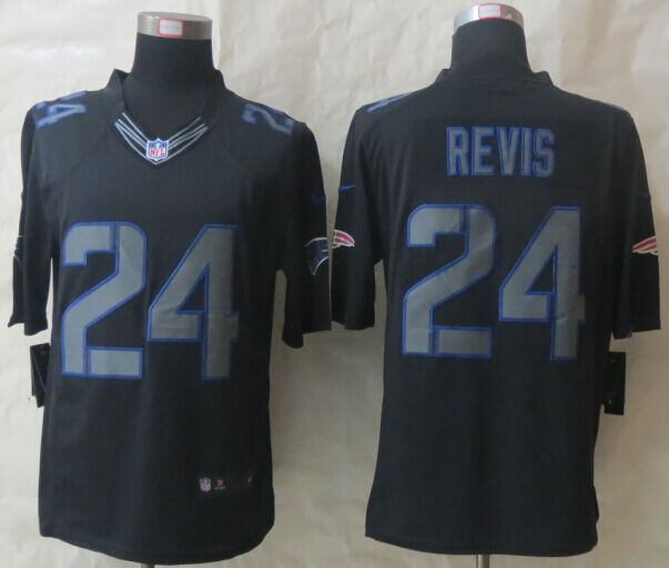 New England Patriots 24 Revis Impact Limited Black New Nike Jerseys
