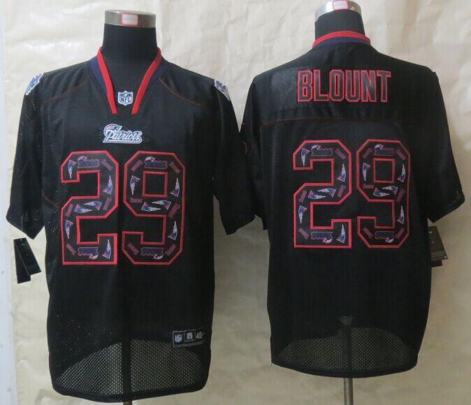 New England Patriots 29 Blount Lights Out Black New Nike Elite Jerseys