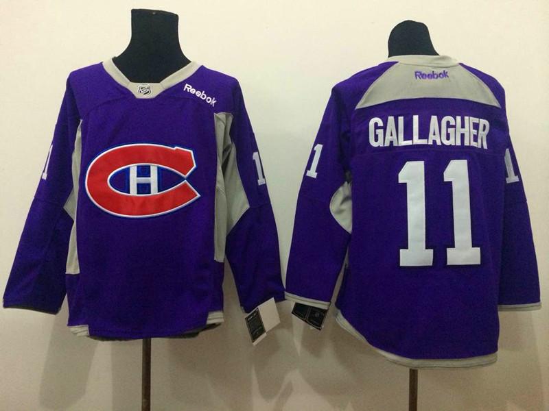 NHL Montreal Canadiens 11 Brendan Gallagher purple 2015 Jerseys