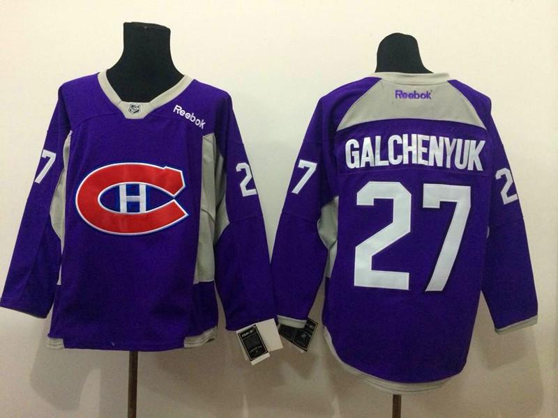 NHL Montreal Canadiens 27 Galchenyuk purple 2015 Jerseys