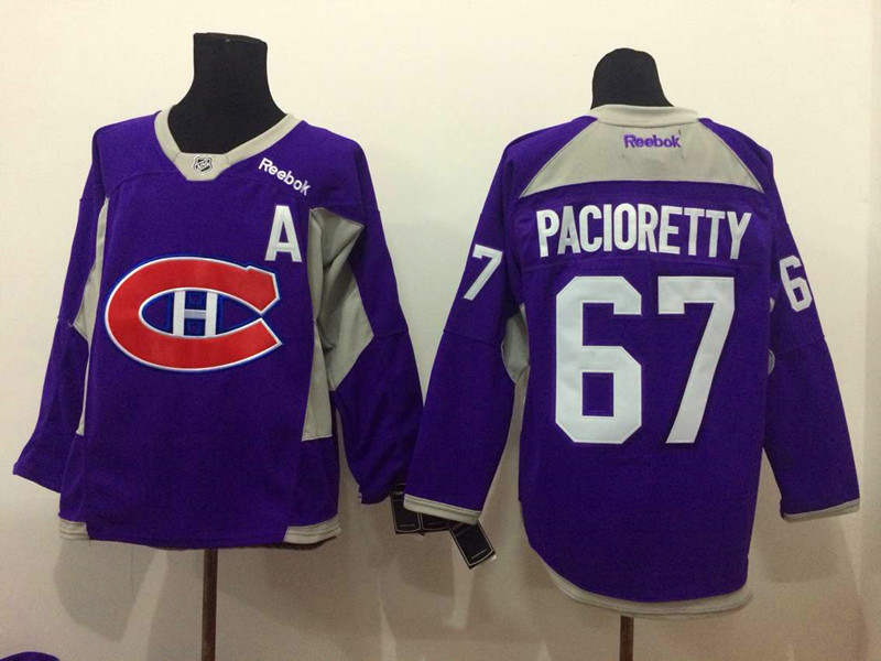 NHL Montreal Canadiens 67 Pacioretty purple 2015 Jerseys