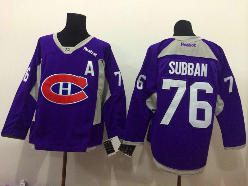 NHL Montreal Canadiens 76 P.K. Subban purple 2015 Jerseys