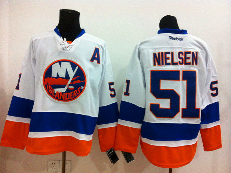 NHL New York Islanders 51 Nielsen white 2015 Jerseys