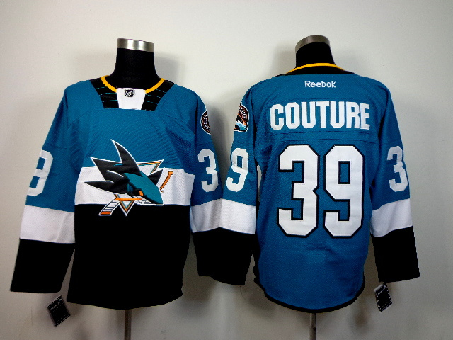 NHL San Jose Sharks 19 Joe Thornton Blue Teal 2015 Stadium Series Jerseys