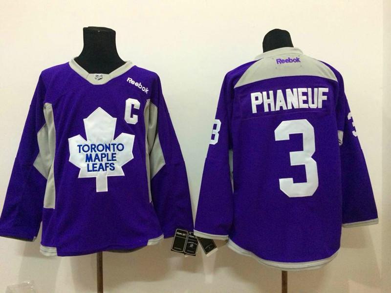 NHL Toronto Maple Leafs 3 phaneuf purple 2015 Jerseys
