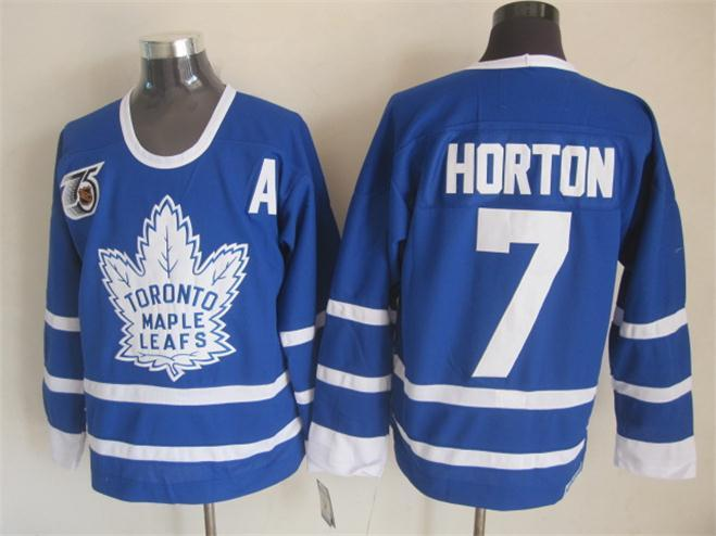 NHL Toronto Maple Leafs 7 Horton Blue The 75th anniversary of the Jerseys