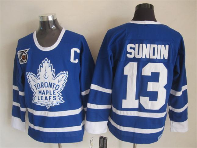 NHL Toronto Maple Leafs 13 Sundin Blue The 75th anniversary of the Jerseys