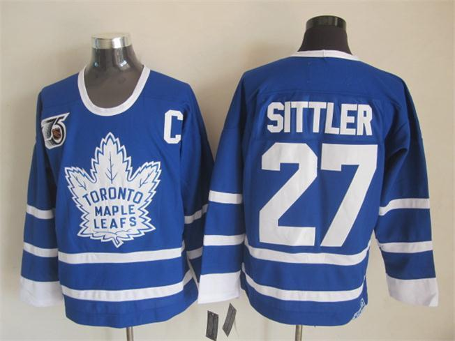 NHL Toronto Maple Leafs 27 Sittler Blue The 75th anniversary of the Jerseys