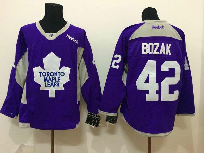 NHL Toronto Maple Leafs 42 bozak purple 2015 Jerseys