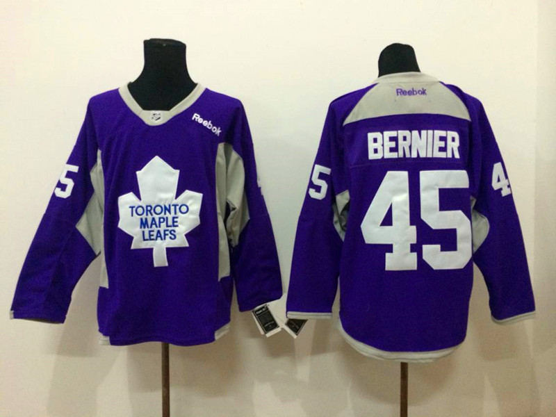 NHL Toronto Maple Leafs 45 Bernier purple 2015 Jerseys