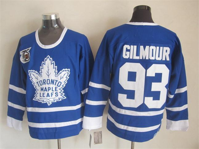 NHL Toronto Maple Leafs 93 Gilmour Blue The 75th anniversary of the Jerseys