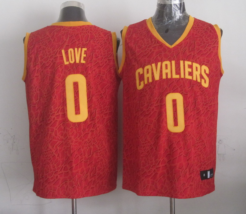 NBA Cleveland Cavaliers 0 love red Leopard grain Jerseys