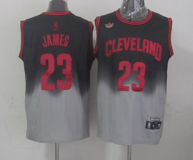NBA Cleveland Cavaliers 23 James Black grey Limited Jerseys
