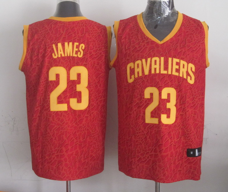 NBA Cleveland Cavaliers 23 James red Leopard grain Jerseys