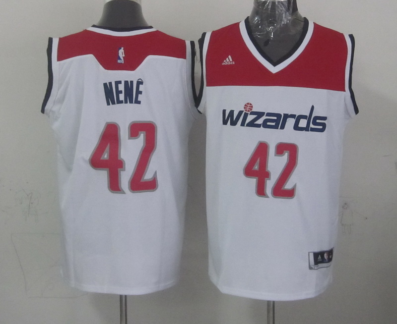 NBA Washington Wizards 42 nene white 2015 Jerseys