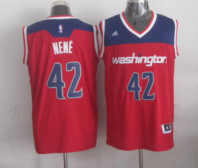 NBA Washington Wizards 42 nene red 2015 Jerseys