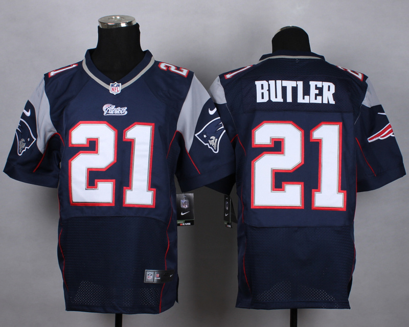 NFL Customize New England Patriots 21 Butler Blue Nike 2015 Elite Jerseys