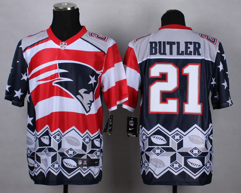New England Patriots 21 Butler red 2015 New Style Noble Fashion Elite Jerseys