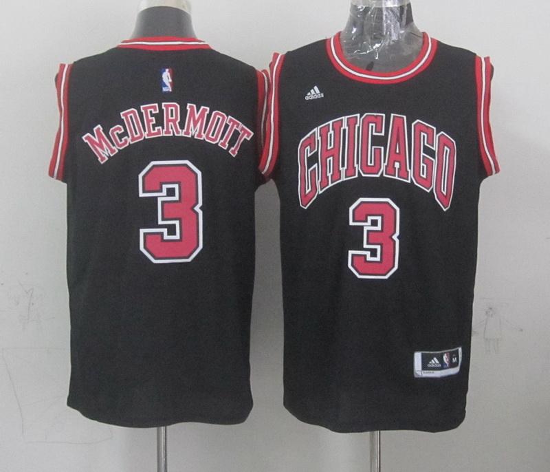 NBA Chicago Bulls 3 mcdermott black 2015 Jerseys
