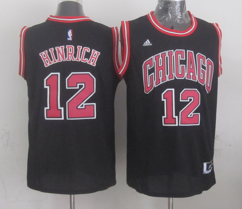 NBA Chicago Bulls 12 hinrich black 2015 Jerseys