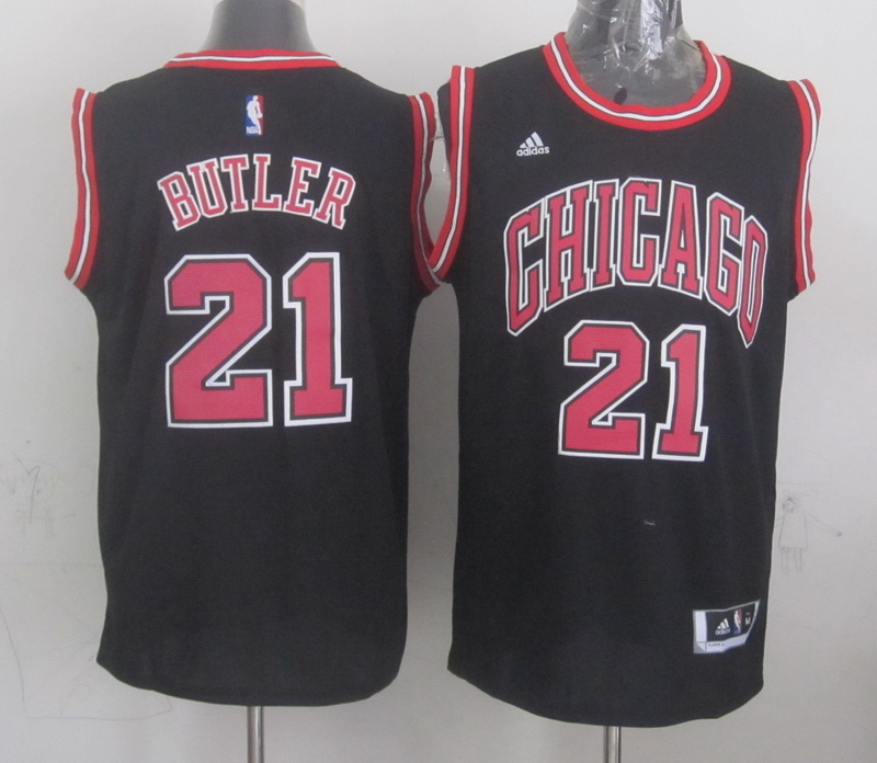 NBA Chicago Bulls 21 butler black 2015 Jerseys