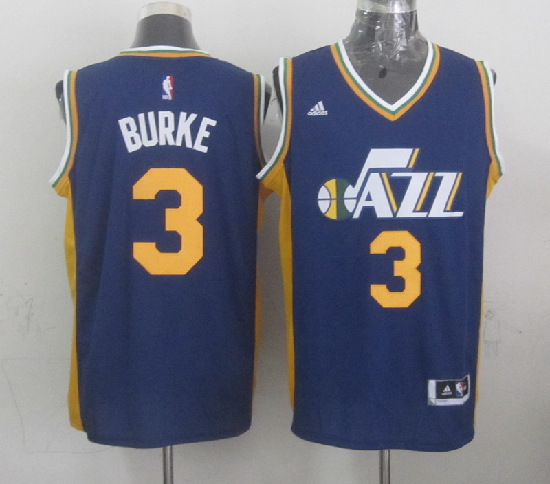 NBA Utah Jazz 3 burke blue 2015 Jerseys