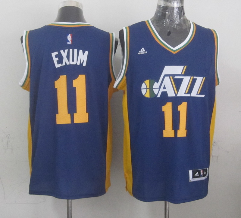 NBA Utah Jazz 11 exum blue 2015 Jerseys